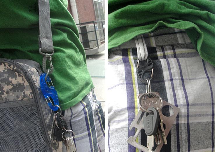 AOTU Portable Lightweight S-Shape Mountaineering Climbing Equipment Carabiner Hanging Buckle