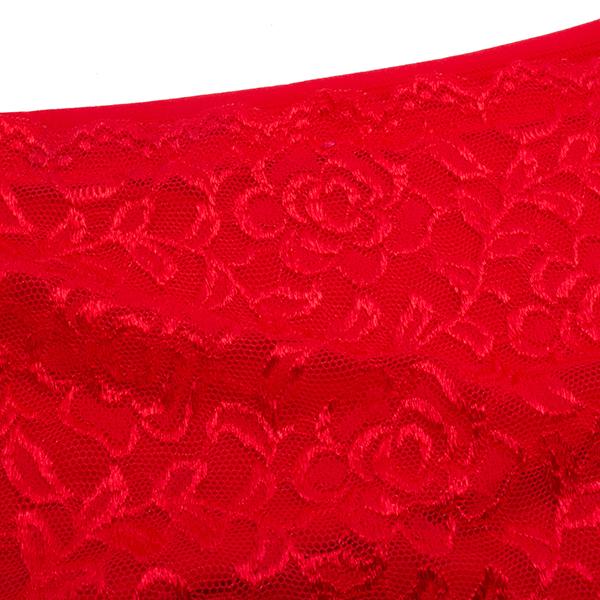 Jacquard Lace High Waist Abdomen Hips Up Underwear