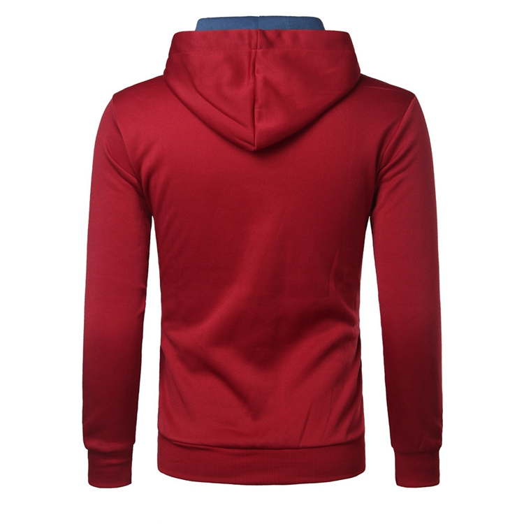 Autumn Men's Indian Printed Classic Hoodies Casual Long Sleeve Sport Hooded Tops