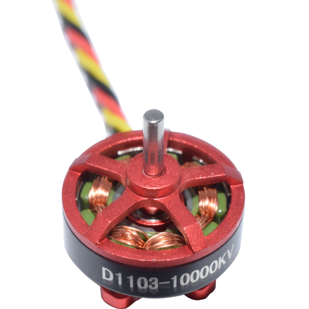 4 PCS Aurora RC D1103 1103 10000KV 1-3S Brushless Motor for RC Whoop FPV Racing Drone - Photo: 2