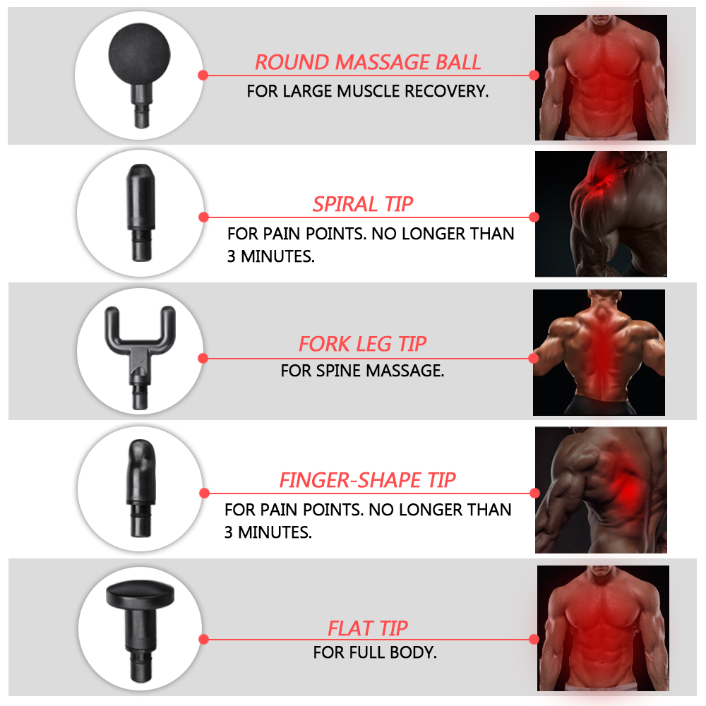 BOOSTER 2600mAh Brushless Electric Percussive Massager