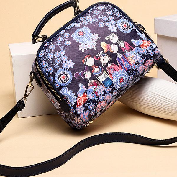Women Printed Forest Series Floral Print Handbag
