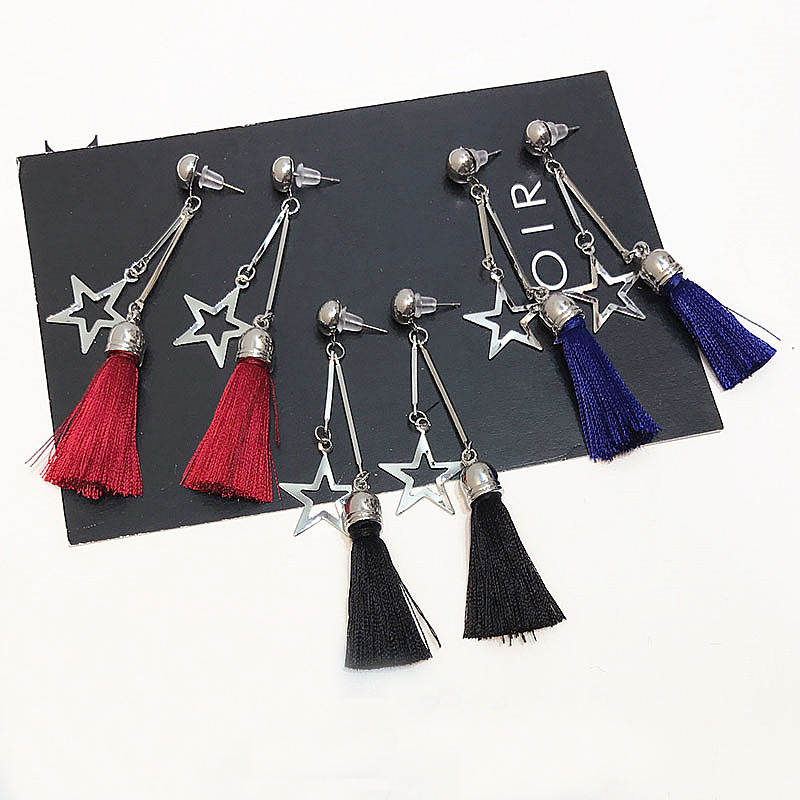 Sweet Stars Ear Drop Tassel Earrings Gift For Women