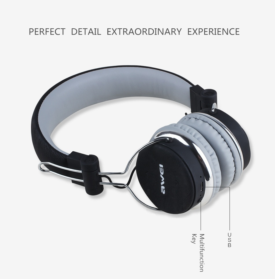 Awei A700BL Hifi Flexible Wireless bluetooth Active Noise Reduction Dynamic 3D Stereo Headphone