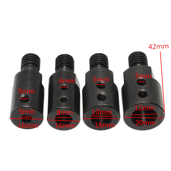 5mm/8mm/10mm/12mm Shank M10 Arbor Mandrel Connector Drill Adapter Cutting Tool for Angle Grinder