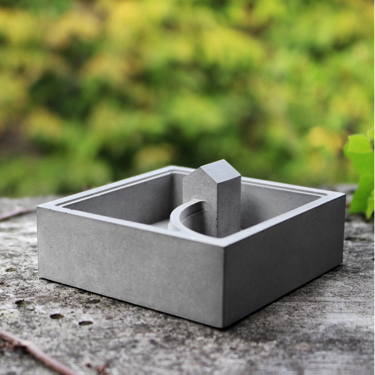 Silicone Concrete Flower Pot Mold 3D Handmade DIY Succulent Planter Candle Soap Cement Mould Decor