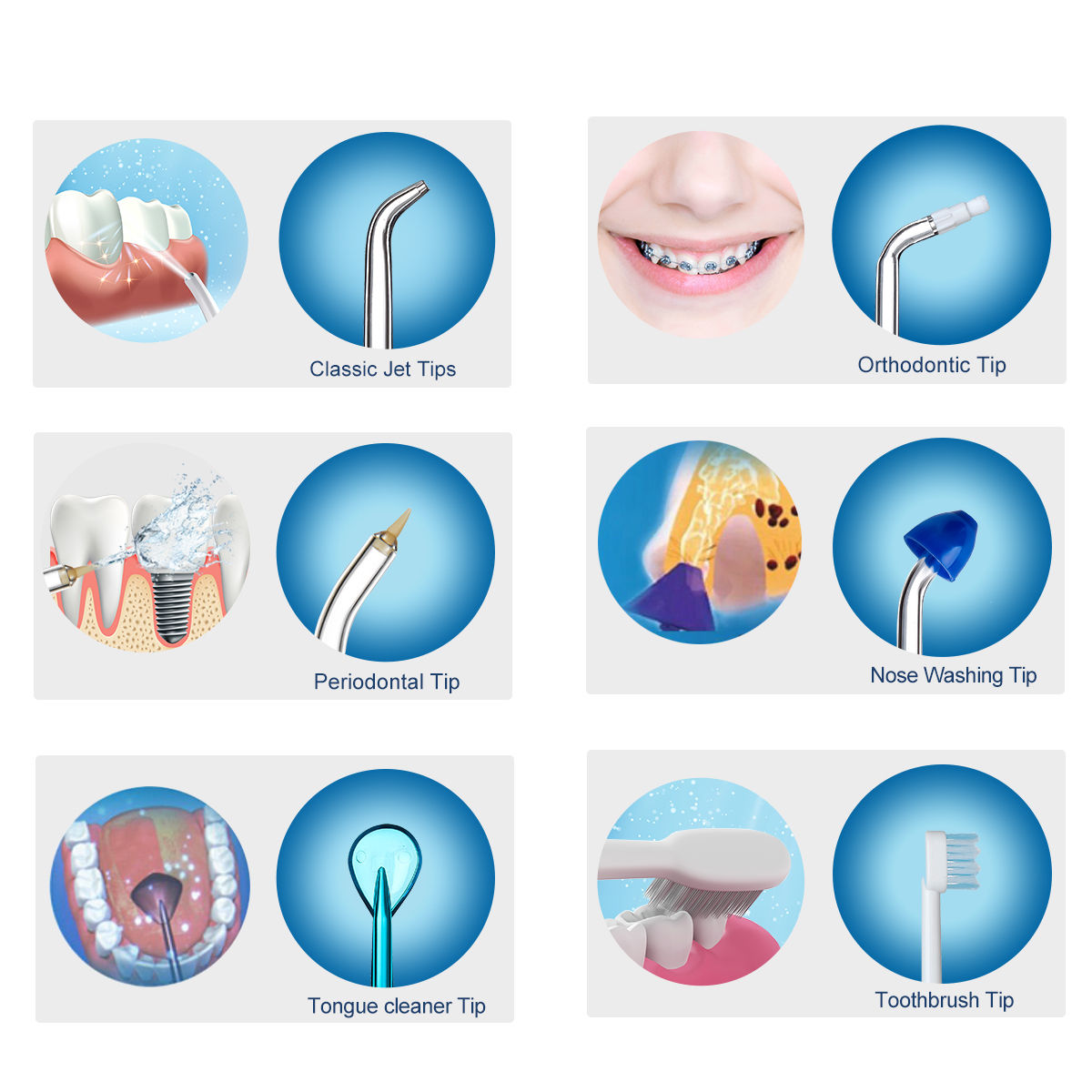 9Pcs Water Flosser Replacement Set Alternative Tips Nozzles For Waterpik Teeth Whitening