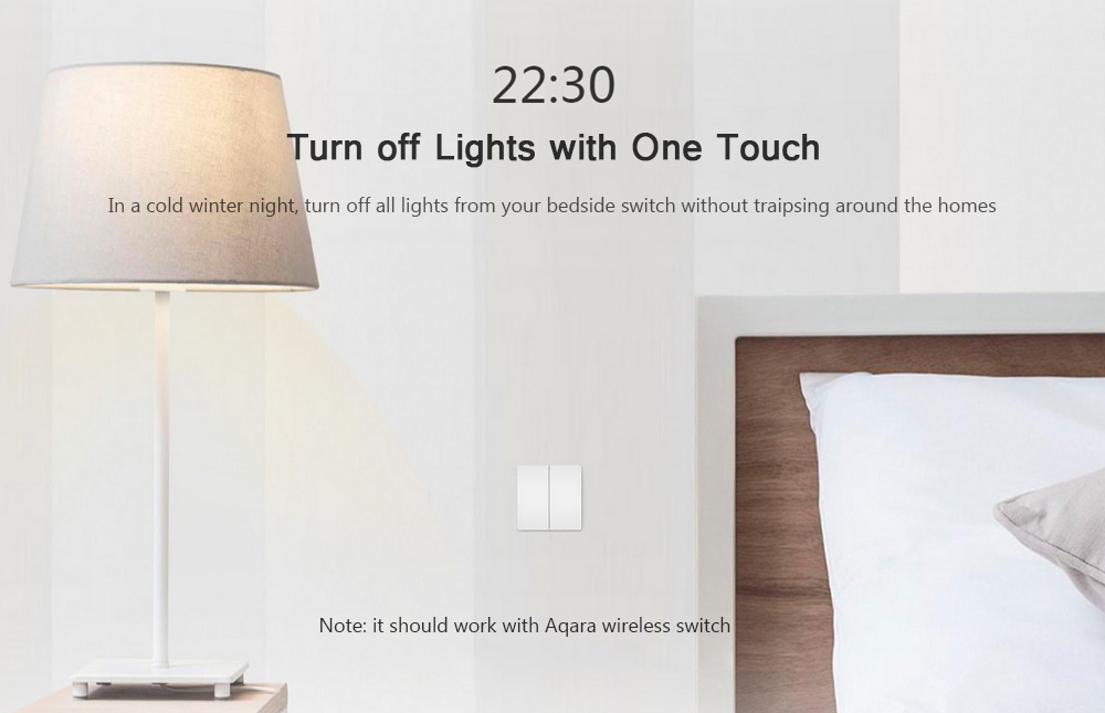 Original Xiaomi Aqara Smart Wall Switch Zig.bee Version Smart Home Remote Controller