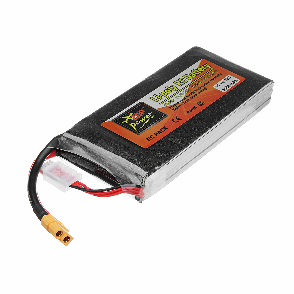 ZOP Power 11.1V 5000mAh 75C 3S Lipo Battery XT60 Plug for RC Model - Photo: 4