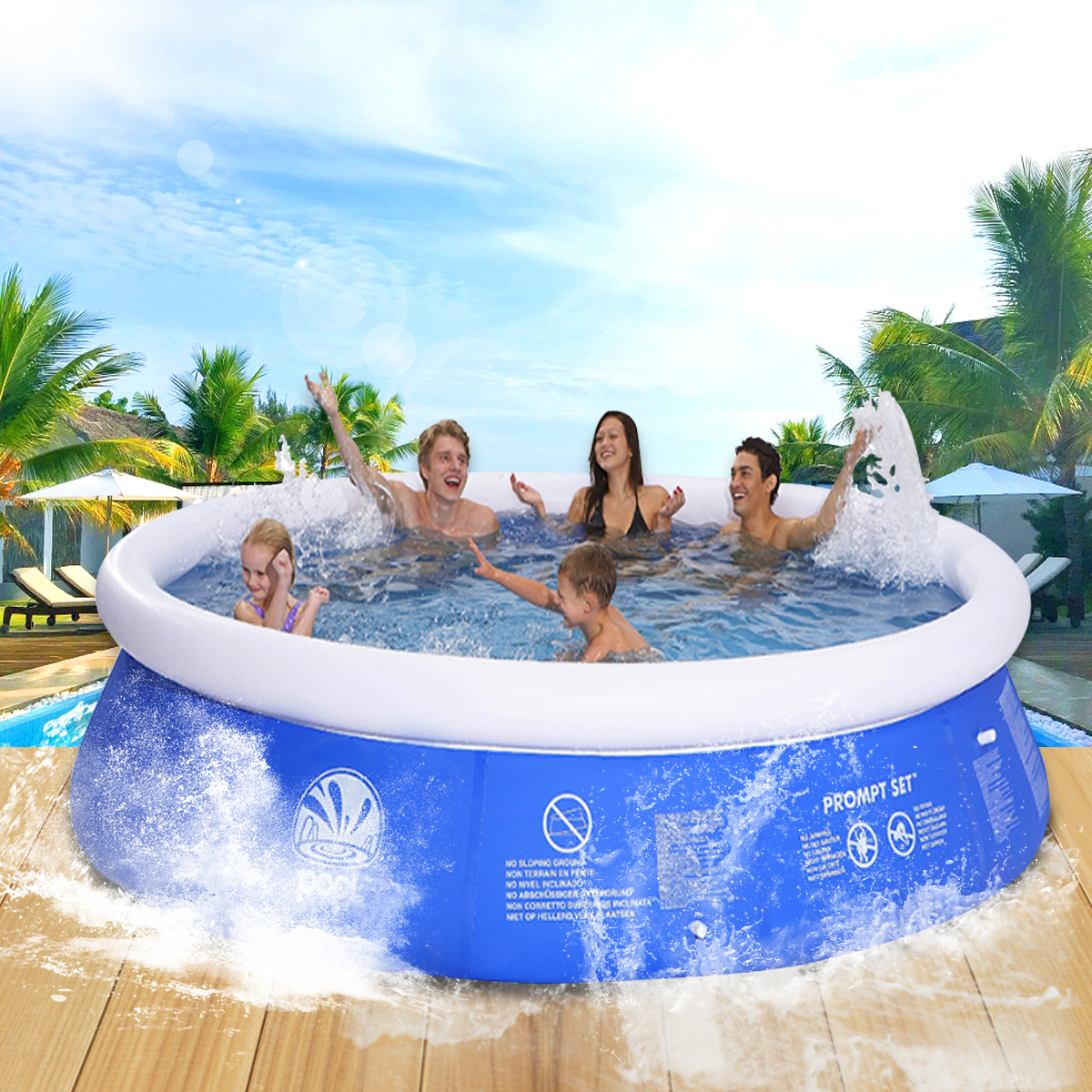 outdoor inflatable swimming paddling pool yard garden f for