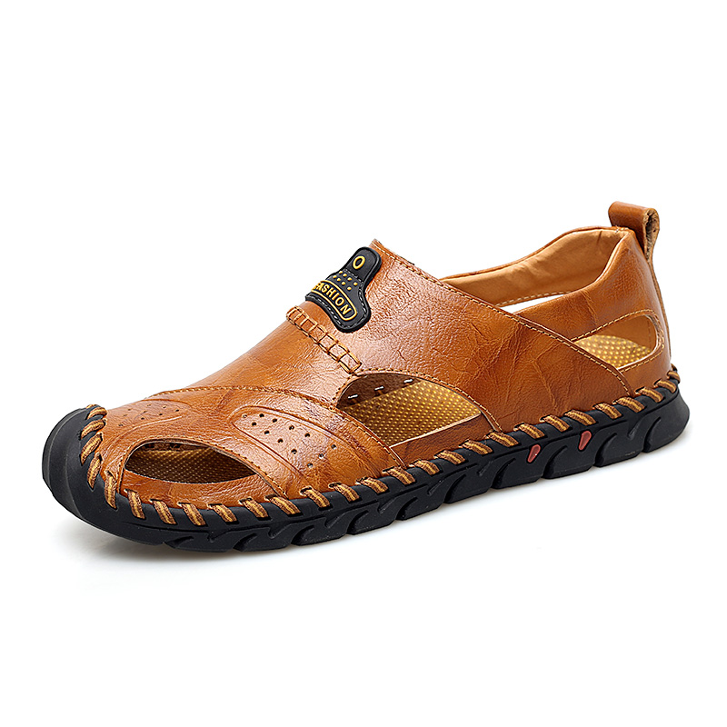 Menico Hand Stitching Genuine leather Outdoor Sandals