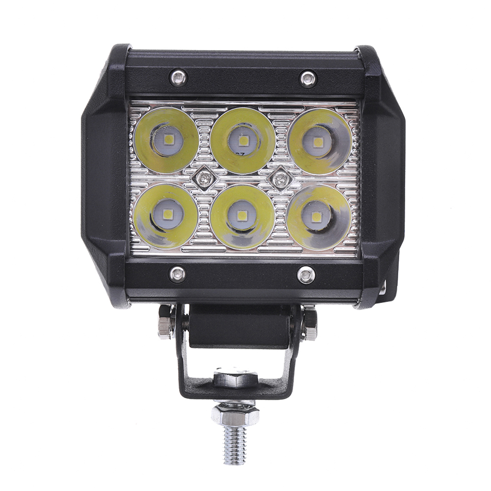 4Inch 18W LED Work Light Bar Spot Beam Driving Lamp 12V 1500LM White for Jeep SUV ATV Trailer