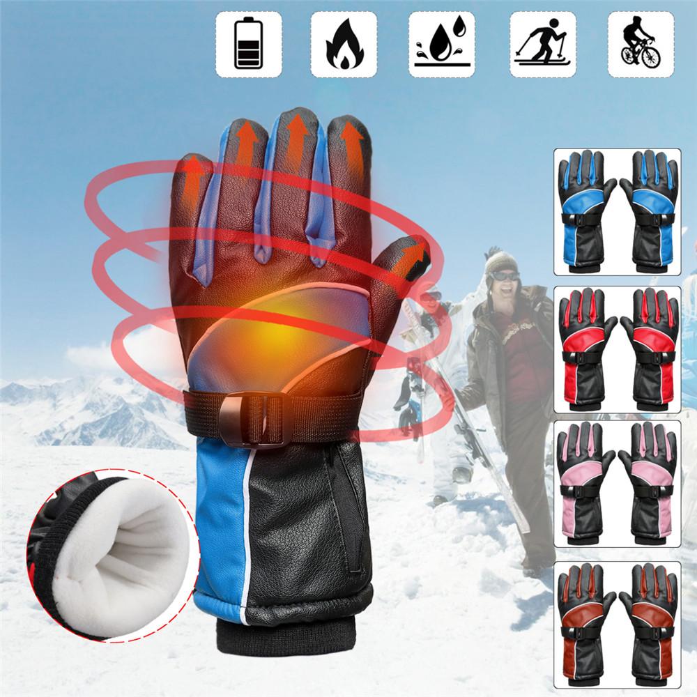 5200mAh Waterproof Motorcycle Electric Heated Gloves Battery Bike Warmer Outdoor