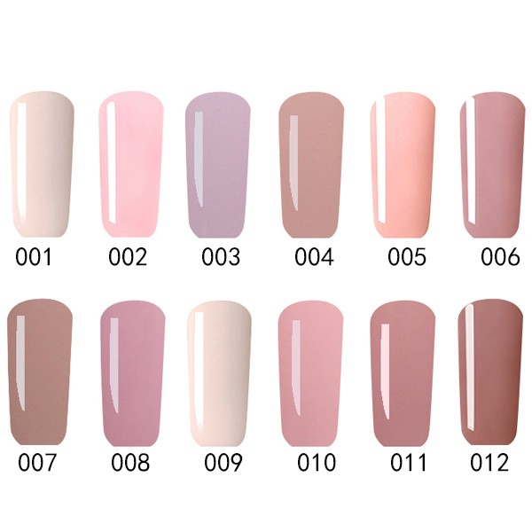 12 Colors Nano White Naked Color System UV Gel Polish Soak-off Nail Art