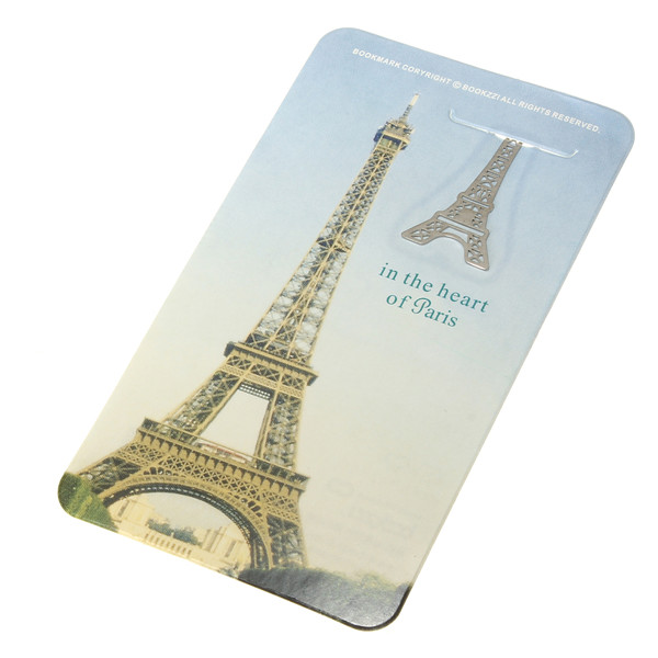 France Paris Eiffel Tower Little Stainless Steel Metal Bookmark Book Marker Clip