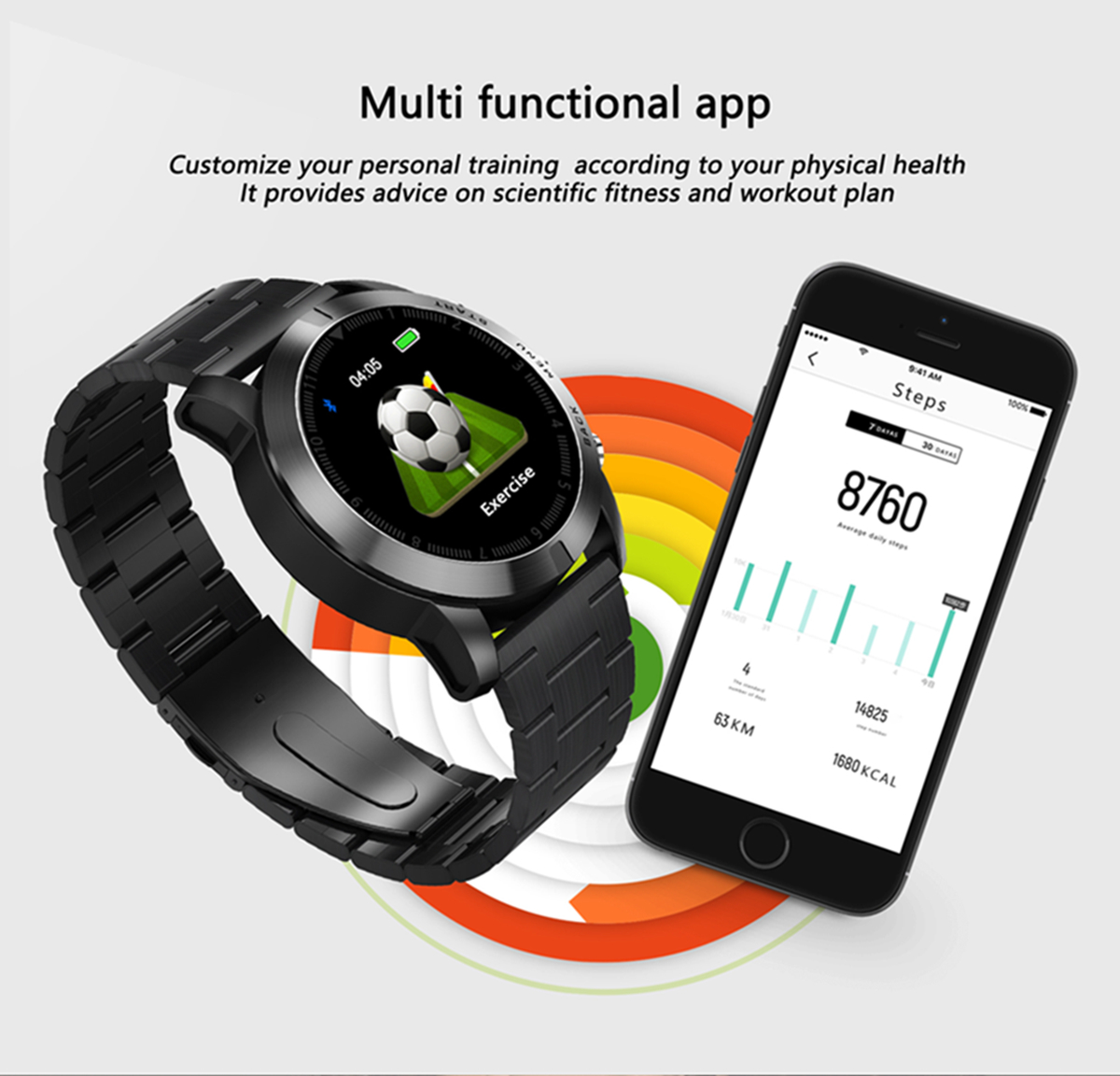 DT NO.1 S10 Full Touch Detachable Design Wristband Large Battery Caller ID Display Sport Smart Watch