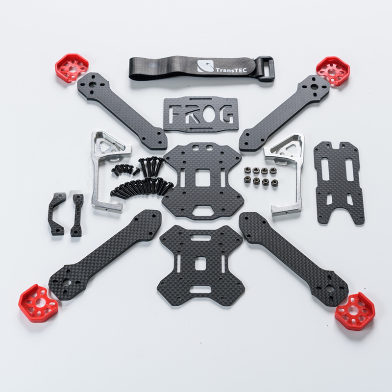 TransTEC Frog Lite 218mm Carbon Fiber 4mm Arm X Frame DIY Frame Kit RC Drone FPV Racing Multi Rotor