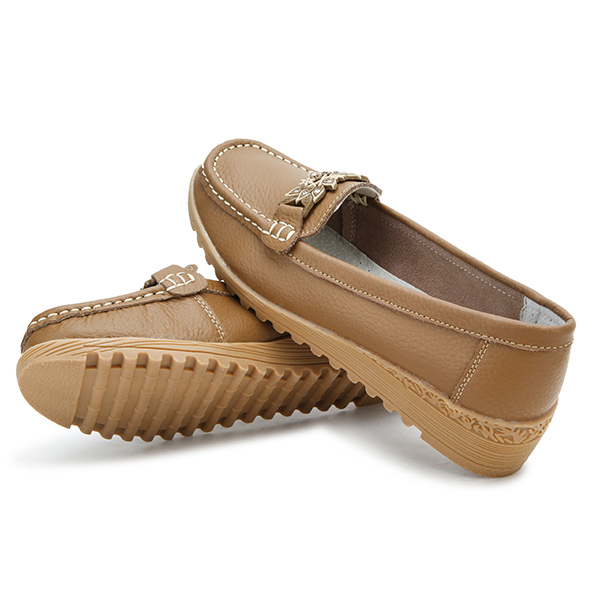 New Women Comfortable Wedge Heel Casual Slip-On Breathable Flat Shoes