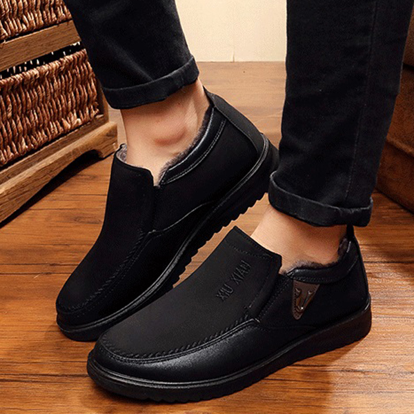 Slip On Soft Sole Wool Lining Round Toe Flat
