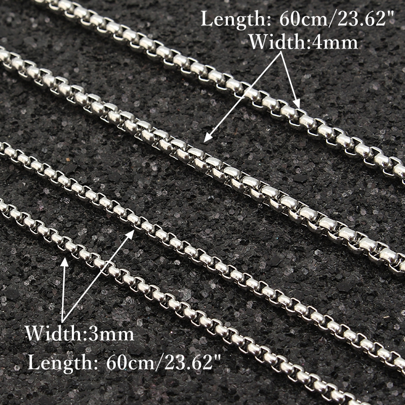 Unique Punk Simple Square Chain Lion Head Pendant Stainless Steel Necklace