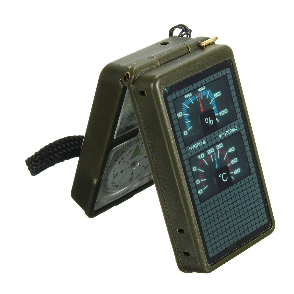 IPRee® 10 in 1 Multifunction Outdoor Survival Compass Tool Camping Emergency Kit
