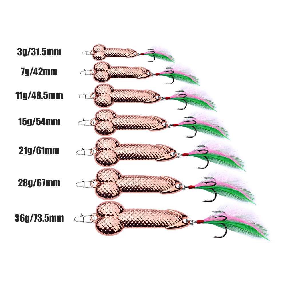 Zanlure 1pc 7g 15g 28g 36g Metal Spinner Spoon Lure Fishing Lure with Feather Hook Sea Fishing Freshwater Fishing