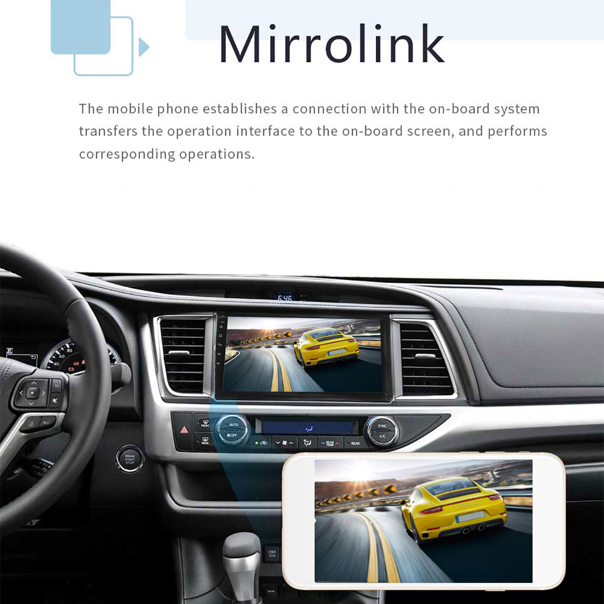10.1 Inch 2 DIN 6800 1+16G Car MP5 Player Quad Core Stereo Radio IPS Touch Screen bluetooth WIFI DAB DVR