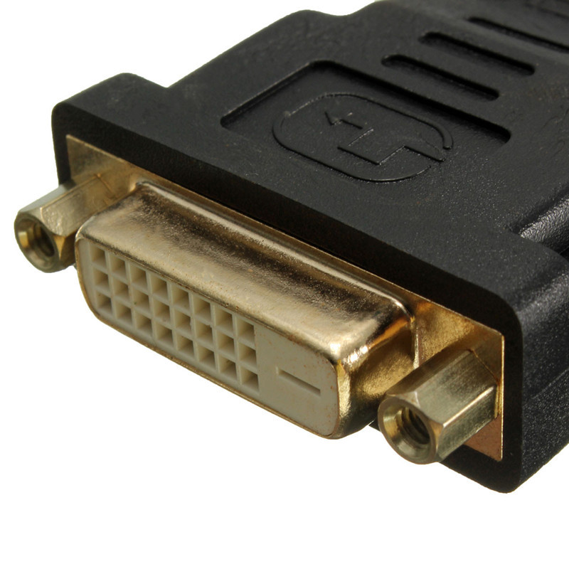 Gold Plated DVI-D Female to HD-MI Male F/M Adapter 24+1 LCD HDTV DVD