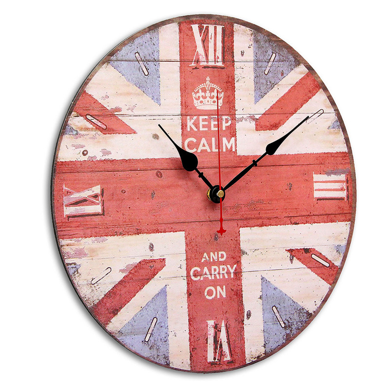 Wooden Digital Wall Clock Vintage Rustic Shabby Kitchen Home Office Decor