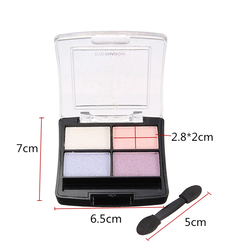 4 Colors Eye Shadow Palette Dark Light Pearl Shining Makeup Cosmetics Kit