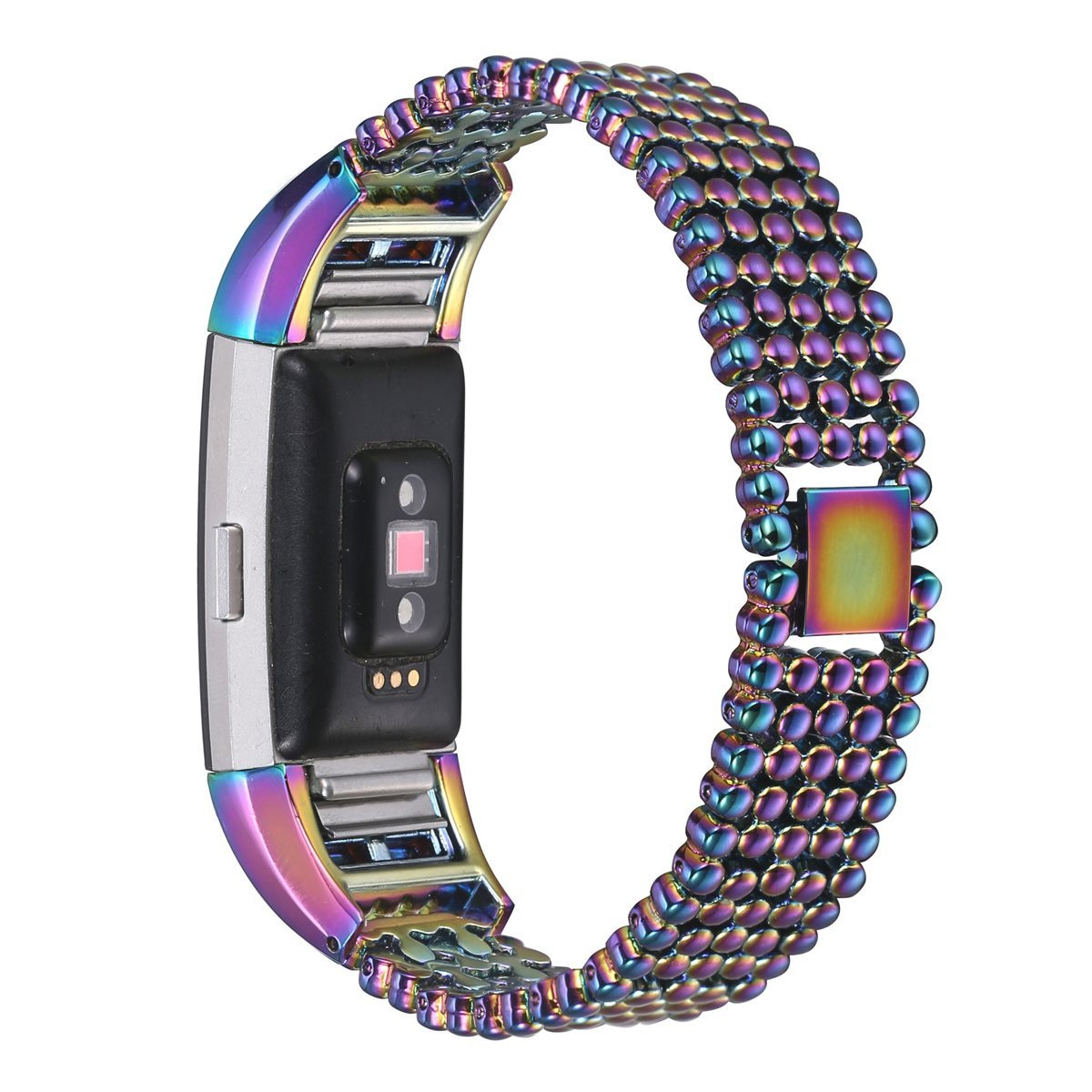 Stainless Steel Wrist Band Loop Strap Clasp for Fitbit Charge 2