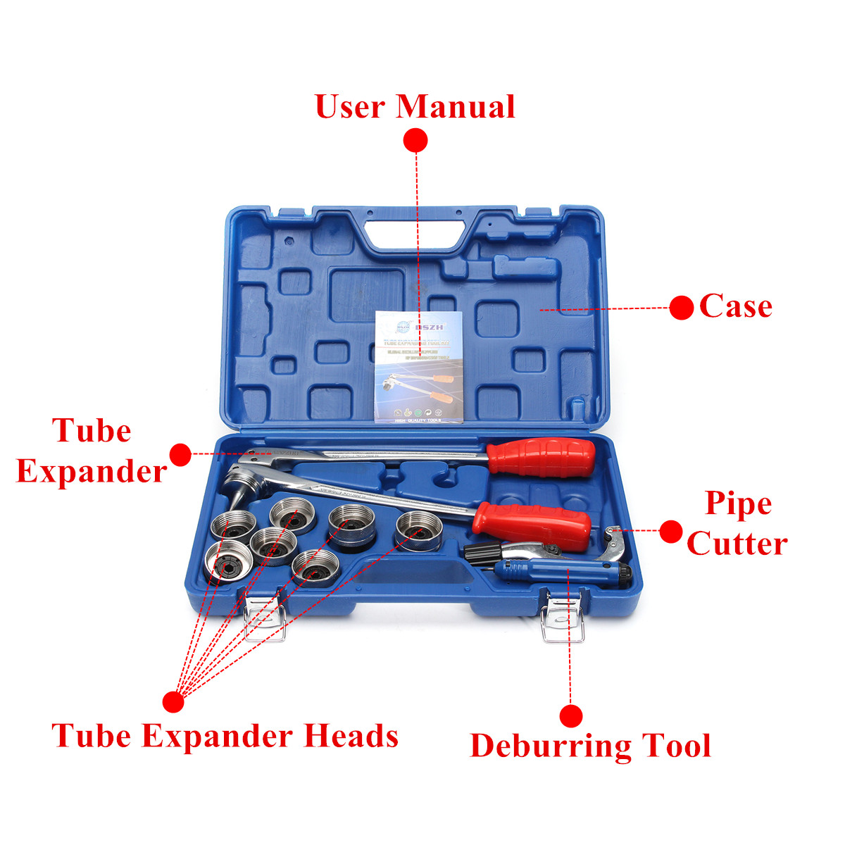 CT-100A Manual Air Conditioner Plumming Refrigeration Copper Pipe Tube Expander Tool Kit