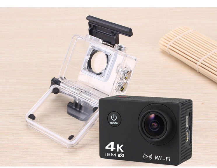 AT-30 170 Degree Wide Angle 16MP CMOS 4K 64G WiFi Action Waterproof Camera for FPV Racing