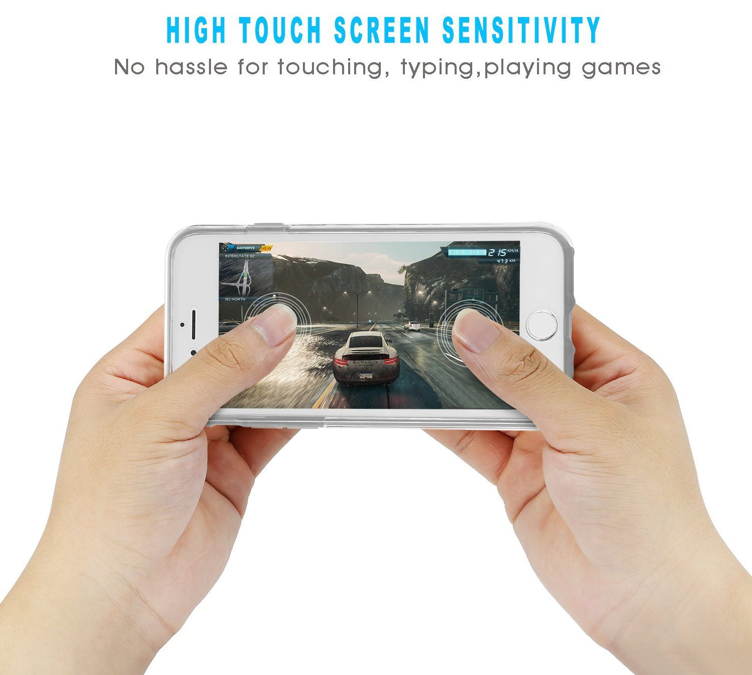 360º Front+Back Touch Screen TPU Clear Case For iPhone 5 5s SE
