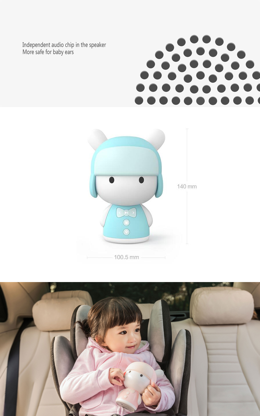 Xiaomi Mitu Mini White Noise Baby Good Sleep Story Robot Chinese Language Preschool Educational Robot
