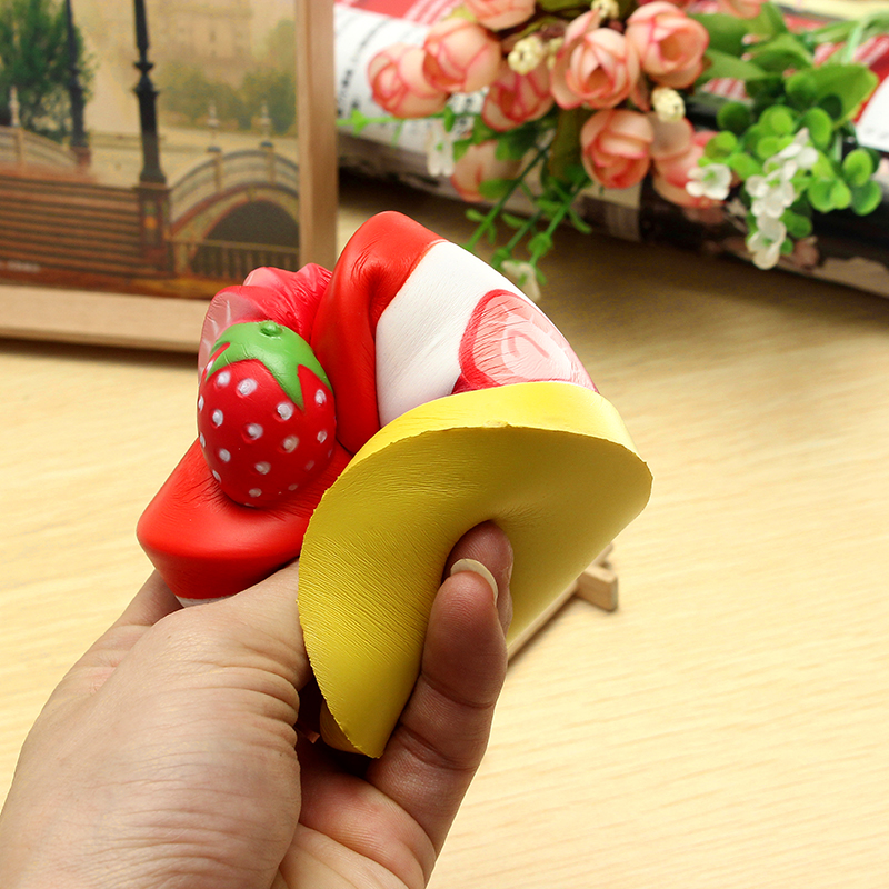 Vlampo Squishy Strawberry Cup Cake Licensed Slow Rising Original Packaging Cake Collection Gift Toy Decor