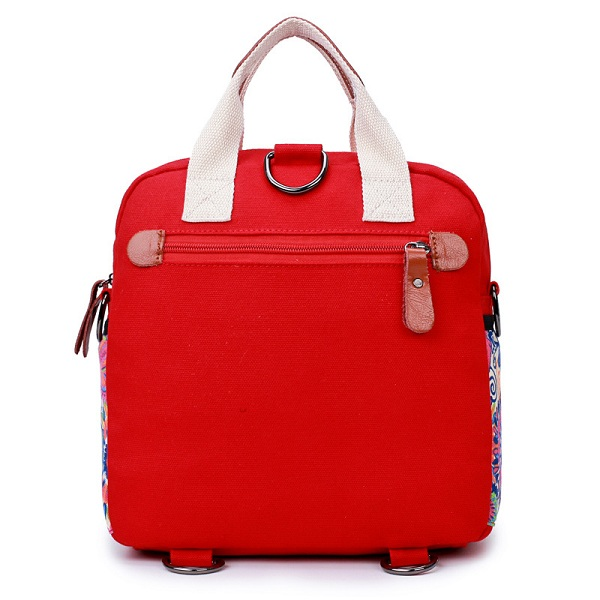 Women Canvas Large Capacity Light Weight Multifunction Travel Outdooors Crossboby Bag Backpack