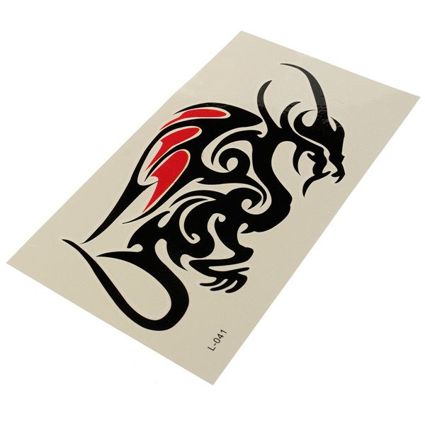 Dragon Tattoo Stickers Waterproof Temporary Sexy Arm Leg Tattoos Women Men