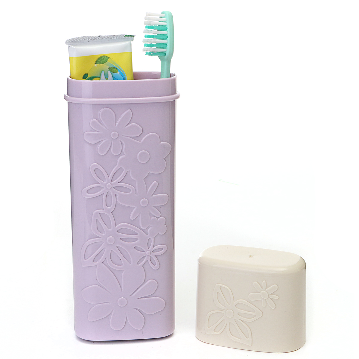4 Colors Outdoor Travel Toothbrush Tube Cover Camping Toothpaste Protect Holder Case Storage Box