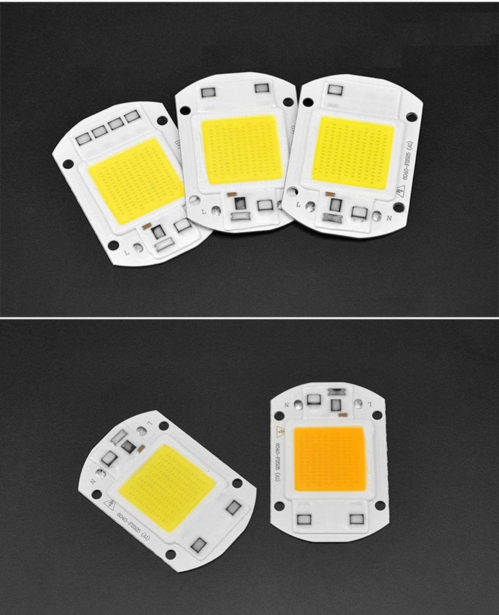20W 30W 50W White / Warm White LED COB Light Chip with Lens for DIY Floodlight AC110V / 220V