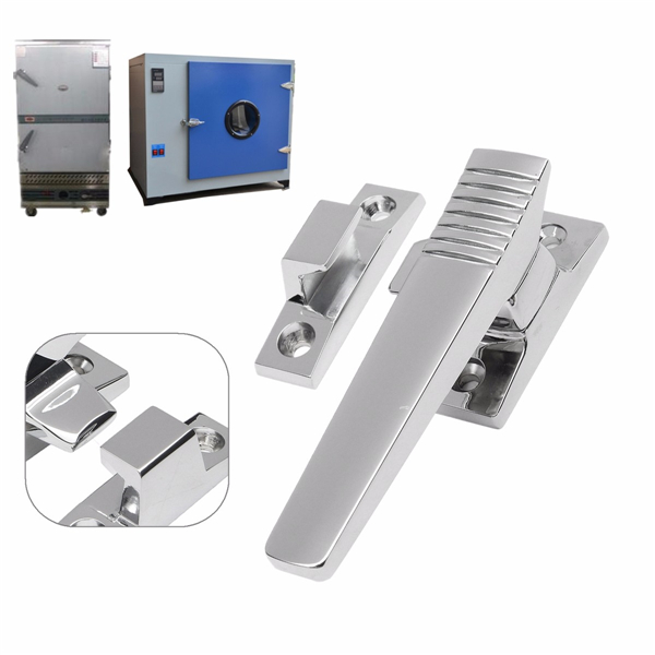 Zinc Alloy Door Handle Lock Set for Industrial Equipment Oven Freezer Incubator