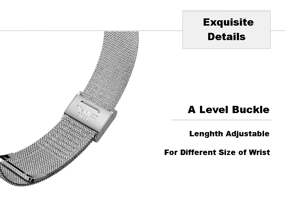Milanese Stailess Steel Screwless Strap Watch Band For Xiaomi Mi band 3