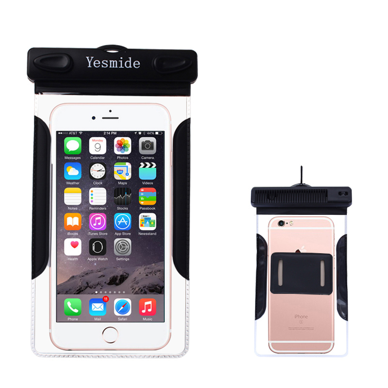 Yesmide Portable Diving Waterproof Bag With Folding Hair Comb For iPhone 6 Plus 6S Plus 6 Inch phone