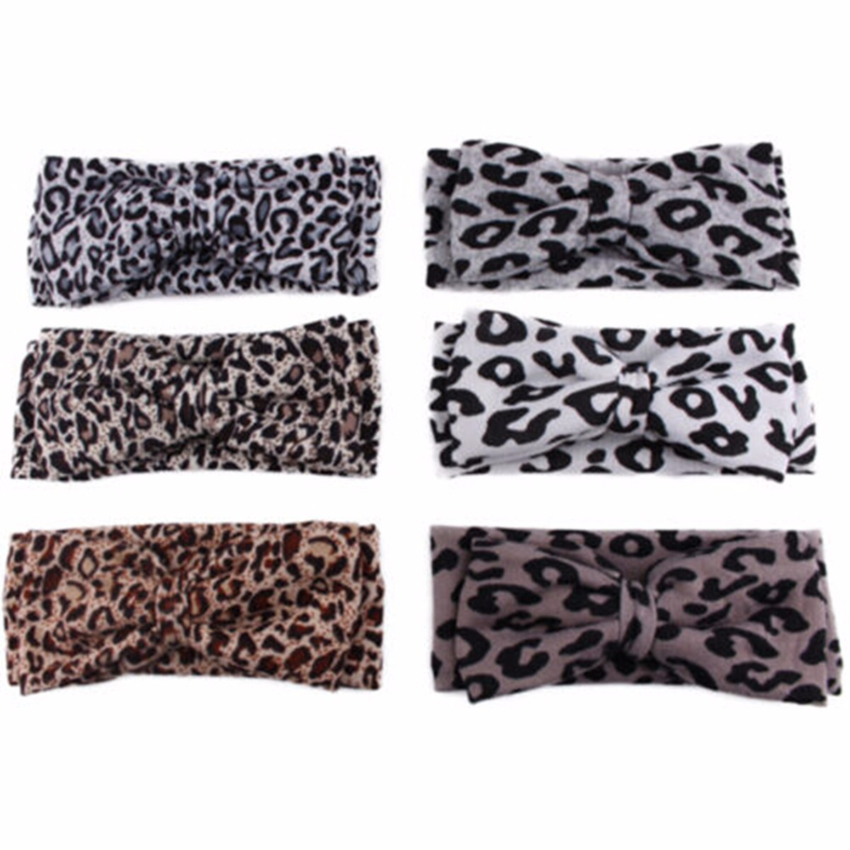 Toddler Baby Infants kid Girl Leopard Floral Bow Knot Headbrand Elastic Stretch Hair Band Accessories