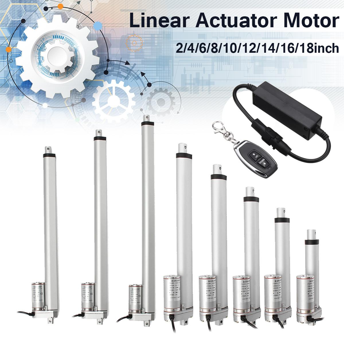 1500N 12V 4/6/8/10/12/14/16/18 inch Linear Actuator Adjustable Actuator Tor Opener Linear Actuator Motor