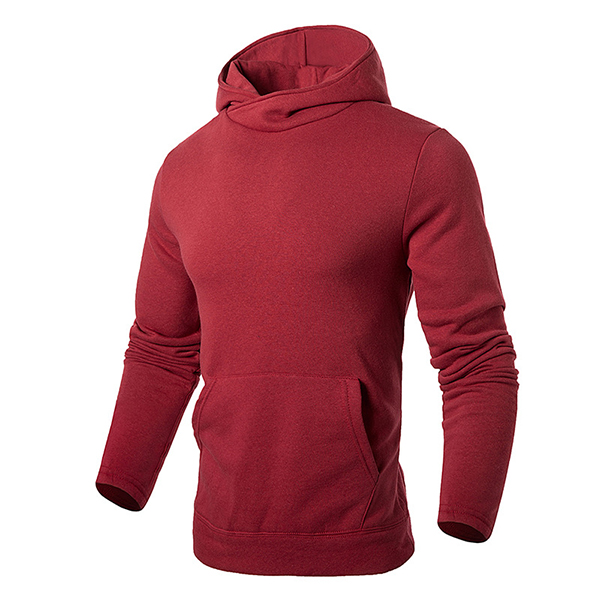 Solid Color Casual Cotton Long Sleeve Hoodies