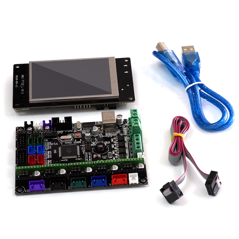 MKS-GEN L V1.0 Integrated Controller Mainboard + 3.2 Inch MKS-TFT32 Full Color LCD Touch Screen Support Power Resume Print BT APP For 3D Printer