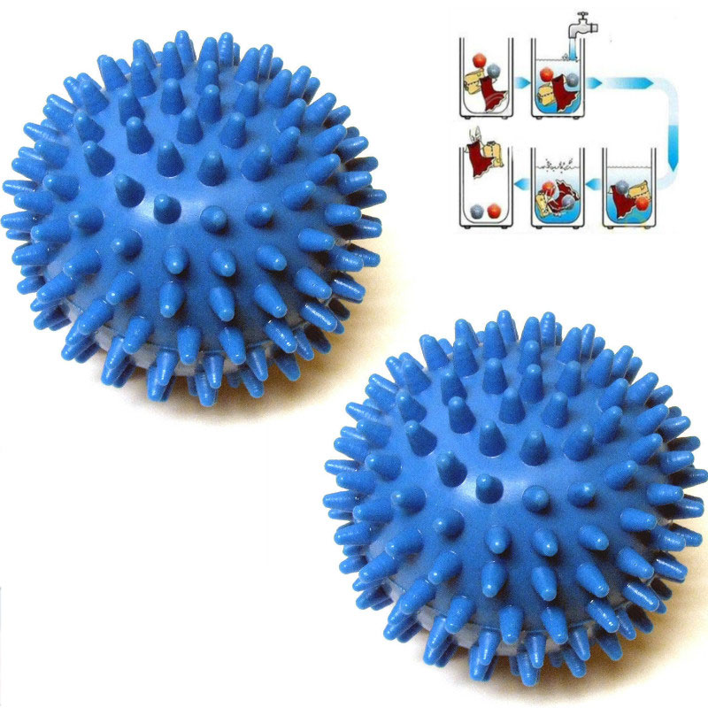 2 Pcs Washing Laundry Dryer Ball No Chemicals Soften Cl