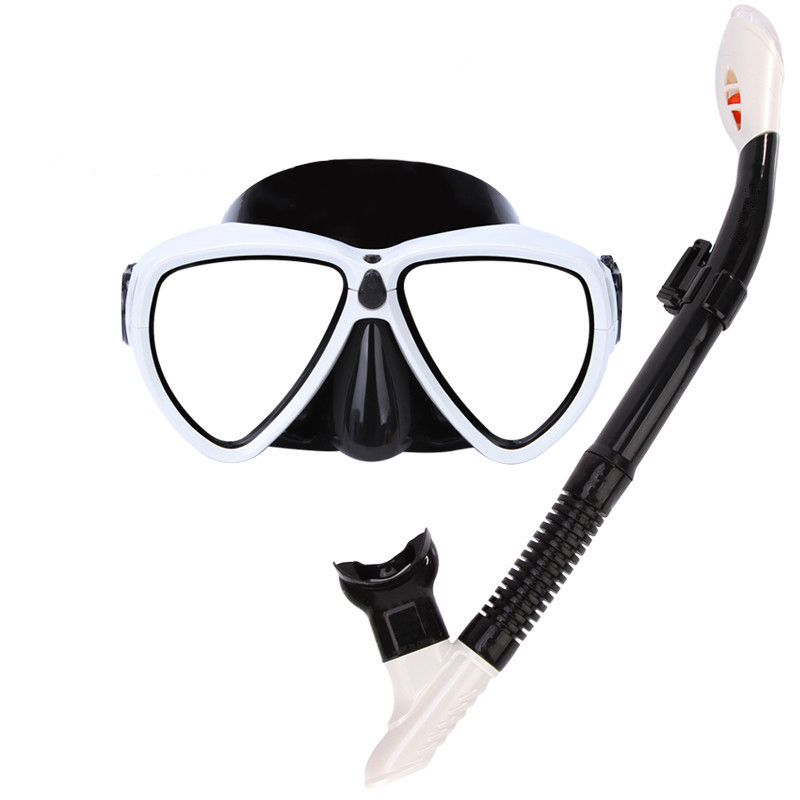 IPRee Summer Diving Glasses Goggles with Breathing Tube Silicone Full Dry Diving Swimming Snorkeling Mask