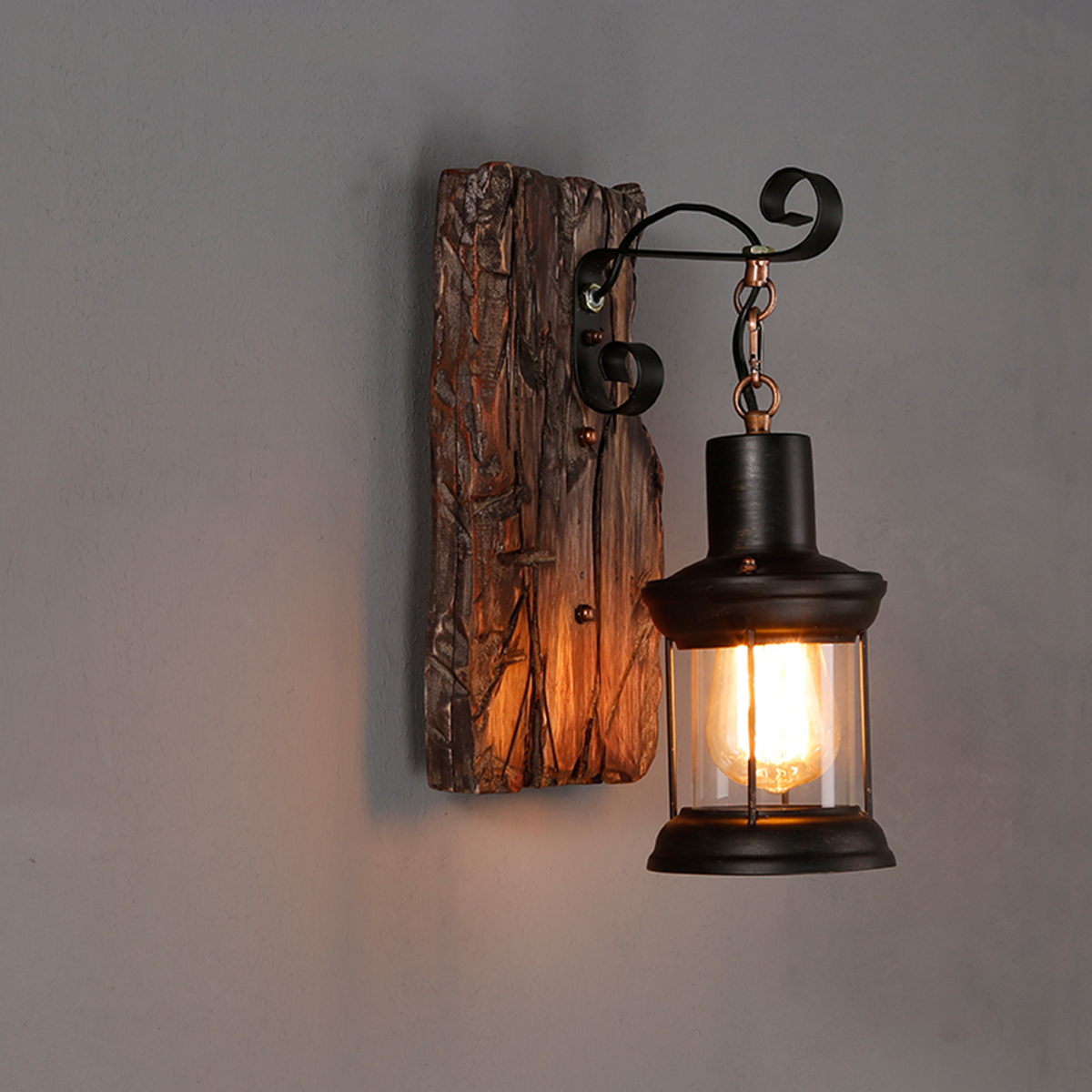 E27 Vintage Industrial Metal Sconce Wall Lamp Fixture Light Home Decor